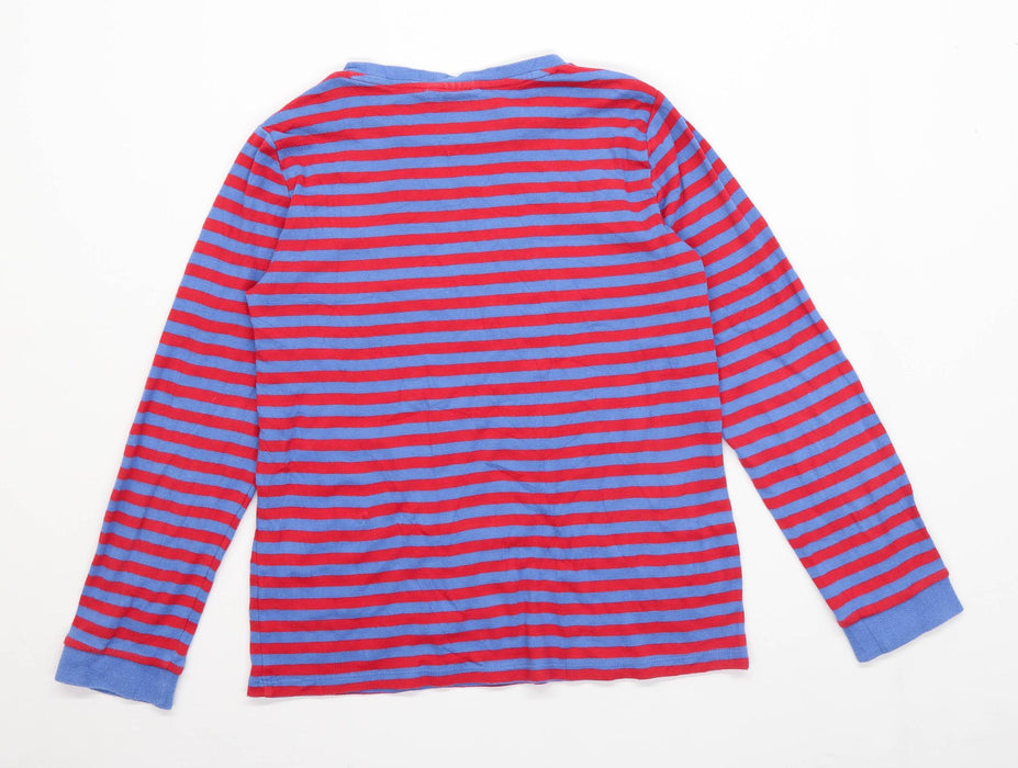 The White Company Boys Striped Blue Long Sleeve T-Shirt Age 11-12 Years
