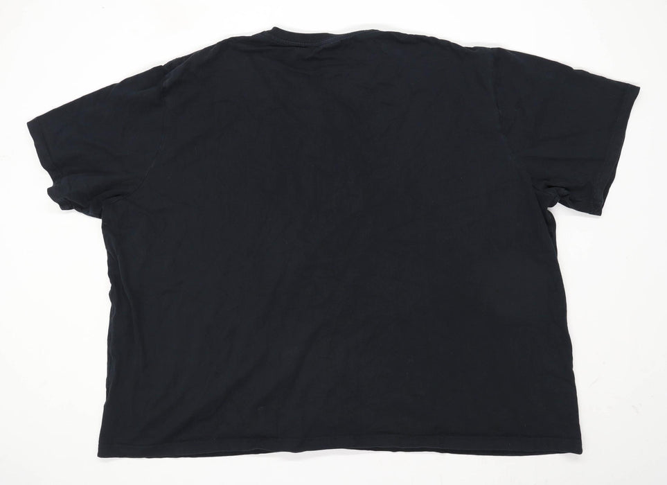 W&B Mens Size 5XL Cotton Black T-Shirt