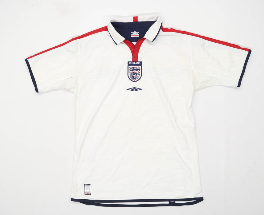 Umbro Mens Size L White England Football 2003/05 Sport Top