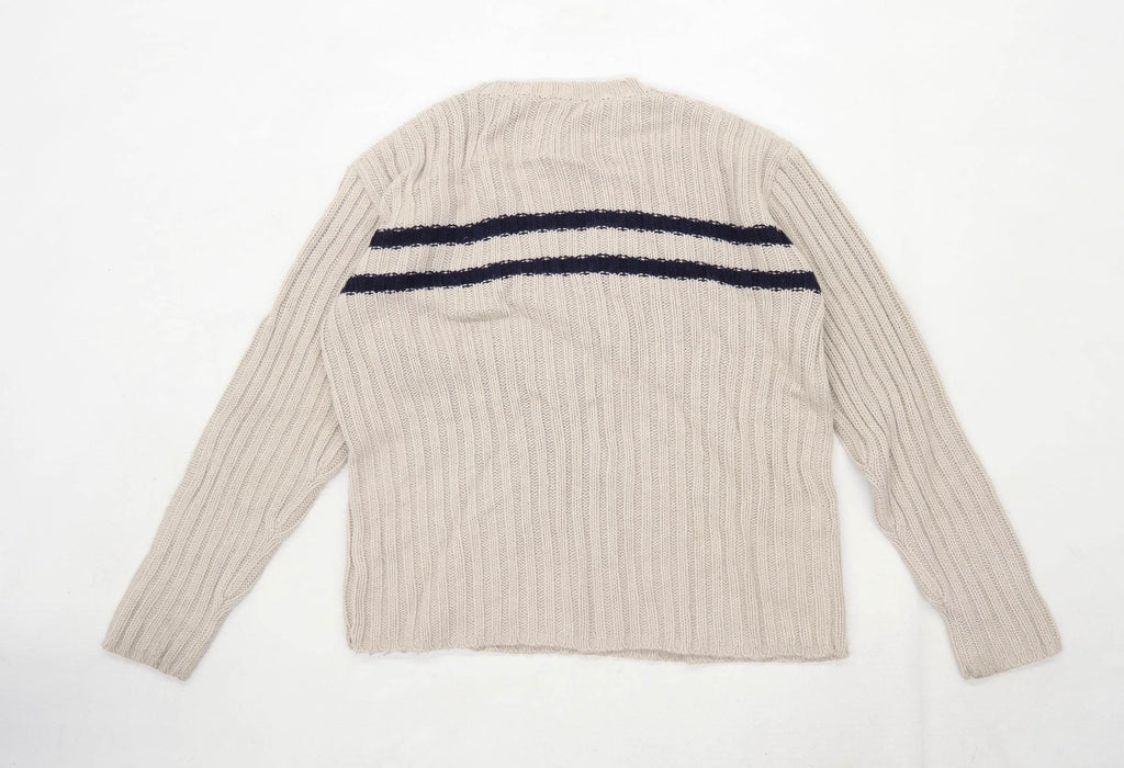 BHS Boys Striped Brown Jumper Age 13-14 Years
