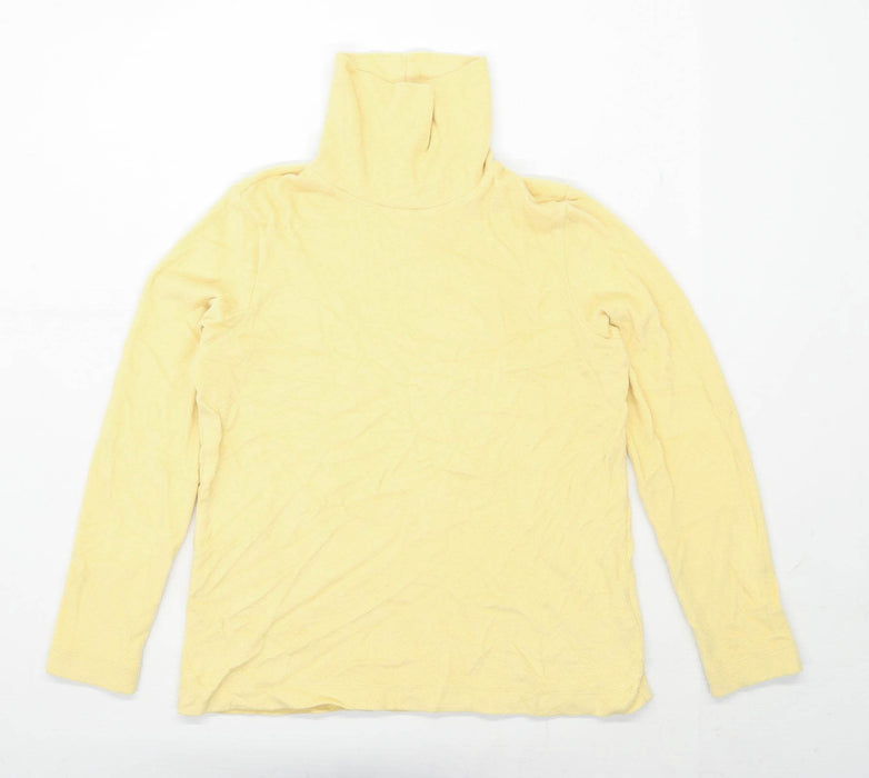 Uniqlo Womens Size L Yellow Fleece Sweatshirt (Regular)