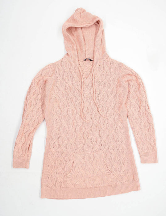 Select Womens Size 18 Striped Pink Hoodie (Regular)