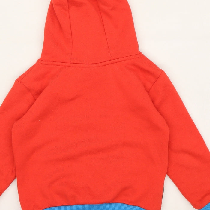 Superman Boys Red  Jersey Pullover Hoodie Size 3-4 Years