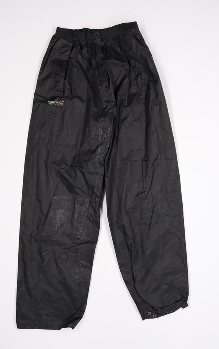 Regatta Mens Black   Rain Trousers Trousers Size M L30 in