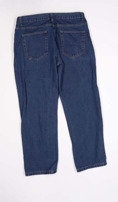 George Mens Blue  Denim Straight Jeans Size 36 L30 in