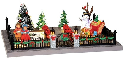 SUPER OFFERTA LEMAX  Decorated Victorian Front Yard