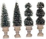 SUPER OFFERTA  LEMAX Cone-Shaped & Sculpted Topiaries, Set Of 4 SKU: 34965