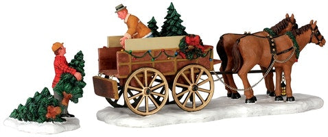 SUPER OFFERTA LEMAX Christmas Tree Wagon, Set Of 2 SKU: 43451