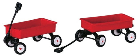 SUPER OFFERTA  LEMAX Red Wagons, Set Of 2 SKU: 44175