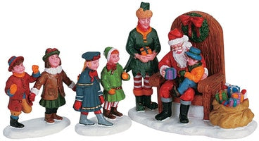 SUPER OFFERTA LEMAX Visiting Santa, Set Of 3 SKU: 62276