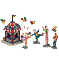 SUPER OFFERTA LEMAX Carnival Ticket Booth With Figurines, Set Of 5 SKU: 63563