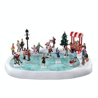 SUPER OFFERTA LEMAX Village Skating Pond With Sound, Set Of 18
