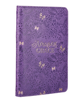 Amazing Grace Purple Faux Leather Bible Study Kit
