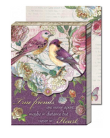 Plum Bird Friends Words of Wisdom Pocket Note Pad