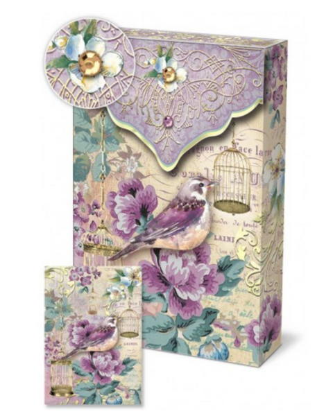 Lilac Birdie Pouch Notes