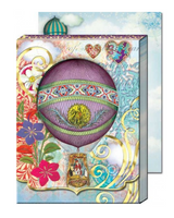 Hot Air Balloons Die-Cut Window Pocket Note Pad