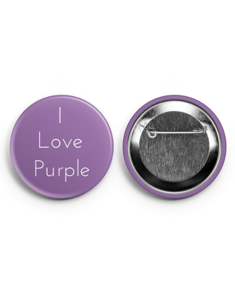 I Love Purple Button