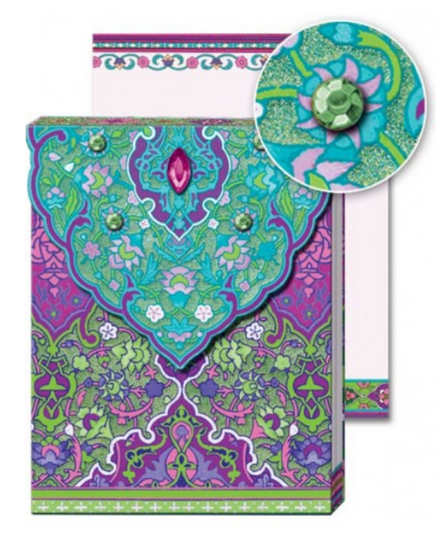 Jeweled Patterns Glitter Pocket Note Pad