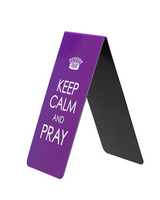 """Keep Calm & Pray"" Large Magnetic Bookmark"