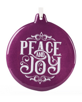 Peace and Joy Ornament