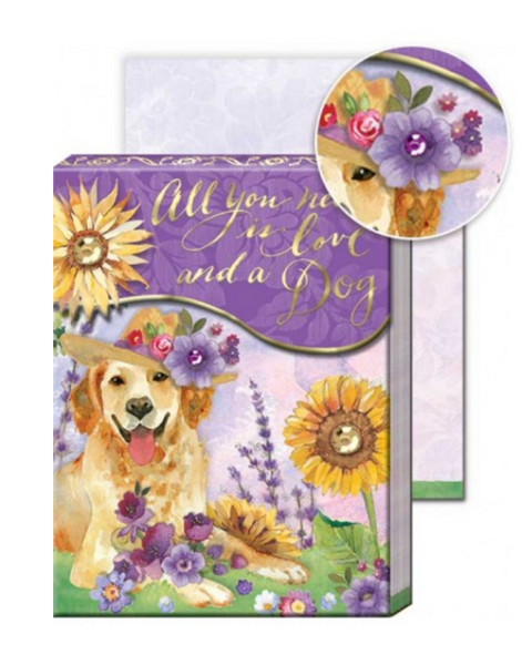 Sunflower Retriever Posh Pets Pocket Note Pad