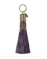 Dusty Plum Tassel Key Chain