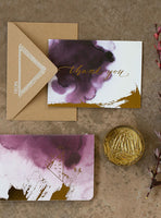 Plum Watercolor Thank You Card