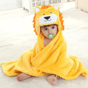 Hooded Lion Poncho / Bath Towel