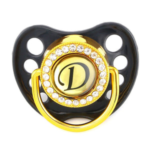 Bling Pacifier / Dummy Featuring Your Baby's Initial