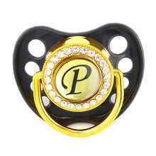 Load image into Gallery viewer, Bling Pacifier / Dummy Featuring Your Baby's Initial
