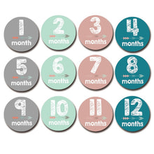 Load image into Gallery viewer, 12 Month Stickers Baby Milestones - Various Types