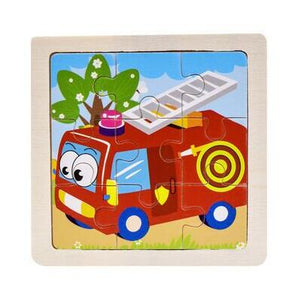 Kids Wooden 3D Jigsaw Puzzles Farm, Safari, Vehicles