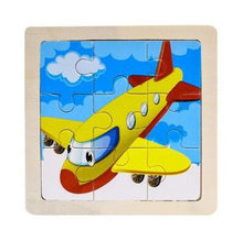 Load image into Gallery viewer, Kids Wooden 3D Jigsaw Puzzles Farm, Safari, Vehicles