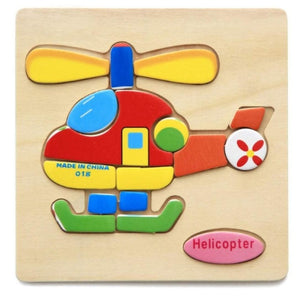 3D Wooden Puzzle Jigsaw Toy