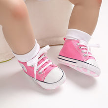 Load image into Gallery viewer, Canvas Baby Sports Sneaker Newborn Baby Shoes First Walkers