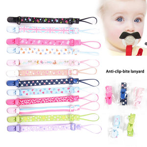 The New Baby Adjustable Dummy / Pacifier Clips. Various Styles