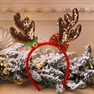 Kids Christmas Headbands Fancy Reindeer Antlers Hairband