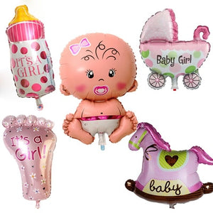 Baby Shower Foil Helium Balloons 5pc Set