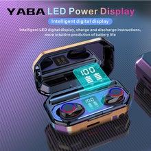 Load image into Gallery viewer, YABA 3500mAh Bluetooth Wireless Earphones Headphones Touch Control LED With Microphone Sport Waterproof