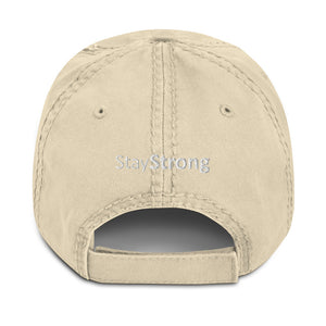 Bold and Light Distressed Dad Hat