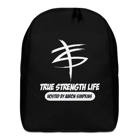 True Strength Life Podcast Minimalist Backpack