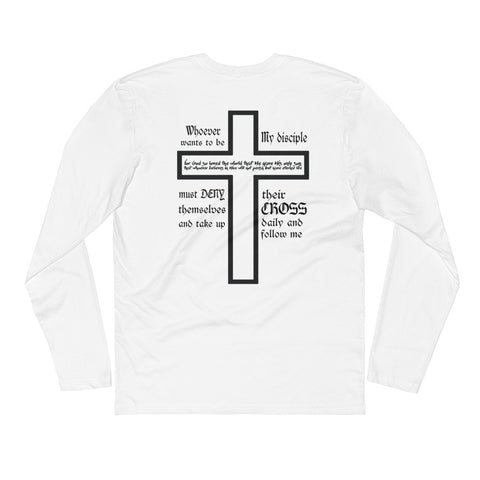 Take Up Your Cross Long Sleeve White Tee