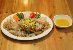 양장피 Seafood & Vegetables with mustard sauce