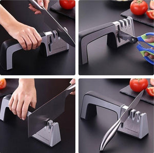 Knife / Scissors Sharpener 4 in 1 Diamond Coated