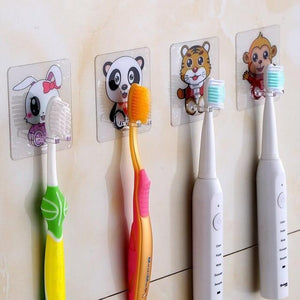 4pcs Toothbrush Holder - Transparent Organizer - Super Cute Options