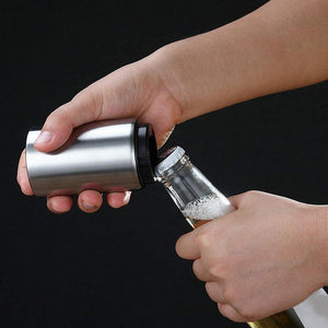 Magnetic Automatic Beer Bottle Opener - Stainless Steel