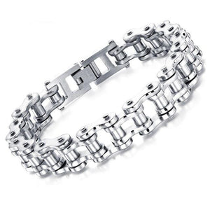 Biker Stainless Steel Bracelet - Bicycle Chain