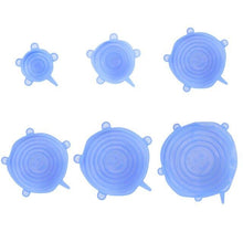 Load image into Gallery viewer, 6 Pcs Silicone Stretch Lids - Reusable Airtight Food Wrap