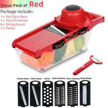 Load image into Gallery viewer, Best Kitchen Gadget Ever!  Cutter Grater Slicer Peeler and more!