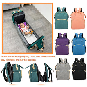 3 in 1 - Backpack, Portable Crib, Diaper Bag